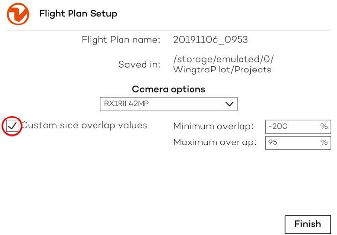 Flight plan setup