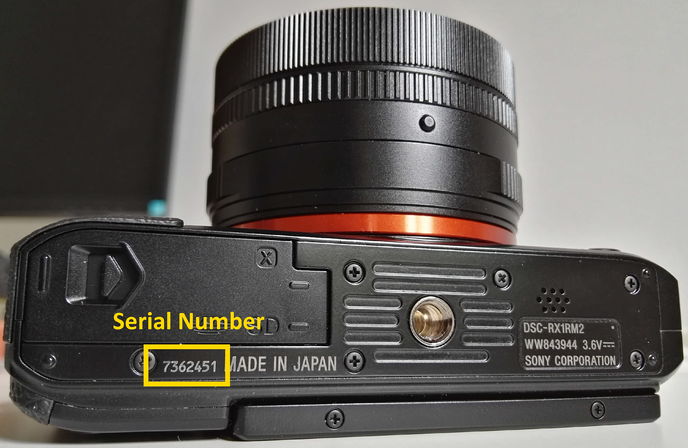 RX1RII Serial number