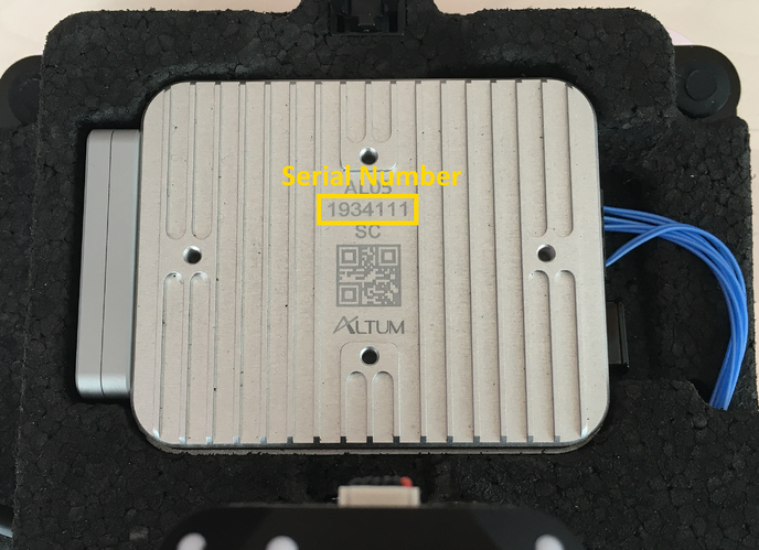 RedEdge Altum Serial Number-1