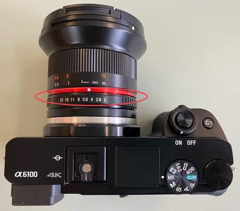 a6100 oblique aperture