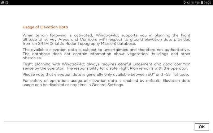 usage of elevation data